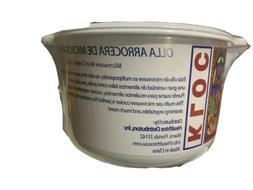 Microwave Rice Cooker Dishwasher Safe,1.85L OLLA ARROCERA MI