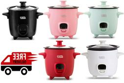 Dash Mini 2-Cup Rice Cooker with Keep Warm Function Assorted