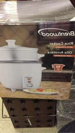 NEW Brentwood Appliances 10-Cup Rice Cooker with Steamer