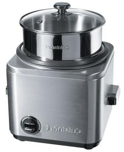 NEW Cuisinart 8-15 Cup Rice Cooker Stainless Nonstick,Glass