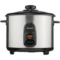 New Brentwood Appliances TS-10 5-Cup Stainless Steel Rice Co