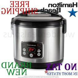 New HAMILTON BEACH Digital Simplicity 20 Cup RICE COOKER, ST
