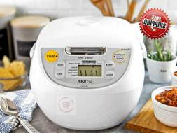 New Japanese Tiger 5.5-Cup Micom Rice Cooker & Warmer Stainl