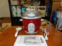 new oster rice cooker/ steamer in red easy clean non stick s