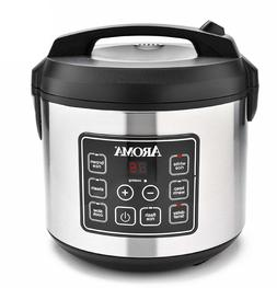 Nonstick Pot 20 Cup Cooked Digital Rice Cooker & Food Steame