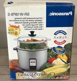 NOS Vtg PANASONIC Electric Rice Cooker Model #SR-W18PB-S Ste