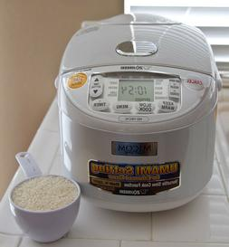 Zojirushi NS-YAC10 Umami Micom Rice Cooker and Warmer, Pearl