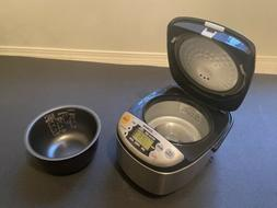Zojirushi NS-LAC05 Rice Cooker & Warmer 3 Cups Stainless W/