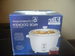 NWB ELITE CUISINE BY MAXI-MATIC 6 CUP RICE COOKER