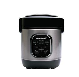 Rice Cooker 3-Cup Stainless Steel w/ Non-Stick Cooking Pot F