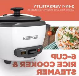 Rice Cooker 6 Cup Food Steamer Pot 3 Basket Electric Vegetab