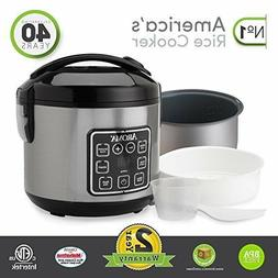 Rice Cooker And Food Steamer 4 Cup Capacity Digital Stainles