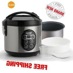 Aroma Rice Cooker and Food Steamer ARC-914SBD 8-Cup , Free S