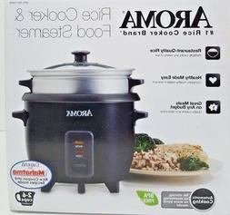 AROMA RICE COOKER AND FOOD STEAMER NON STICK STEAM TRAY SERV