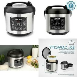 Rice Cooker Countertop 20-Cup Programmable Cooking Home Smal