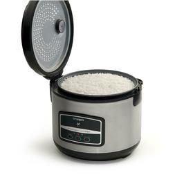 Rice Cooker Steamer 16Cup Stainless Steel Rice Cooker with N
