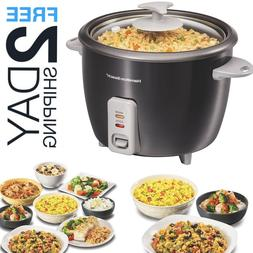 Rice Cooker Steamer Fast Cooking 16 Cup Steam Basket Automat