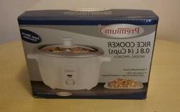 Premium Rice Cooker, Warmer, 0.8L, 4 cups, 2 servings, 350W,