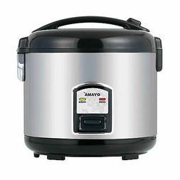Slow Rice Cooker Warmer Steamer Steel Crockpot Round Dinner