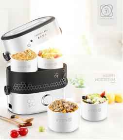 Smart Electric Lunch Box Small Rice Cooker Double Layer Auto