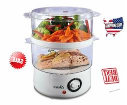 tier electric vegetable food steamer rice cooker