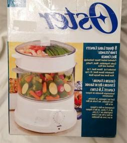 Oster two tier 8 Quart Large Capacity Food steamer/ Rice Coo