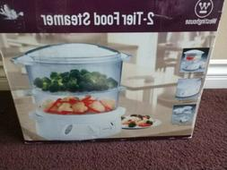 VTG Westinghouse 2-Tier Vegetable Food Steamer and Rice Cook